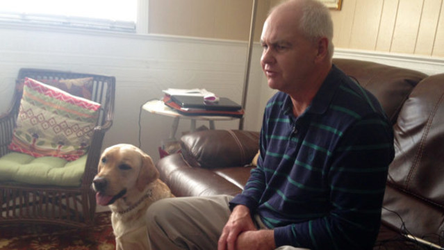 Guide dog injured after being attacked by pitbull in bangor pub.