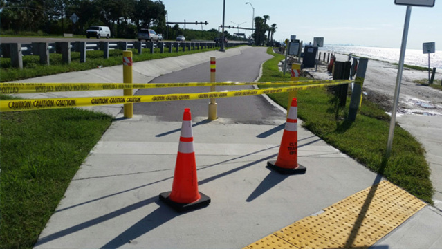Courtney Campbell Causeway trail remains closed