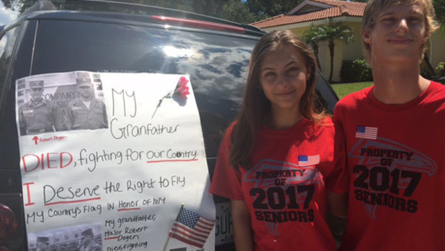 Dunedin High students fight to display American flag on their vehicles