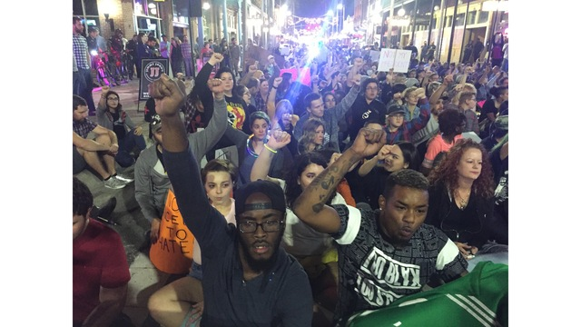 Tampa Bay area residents protest president-elect Trump
