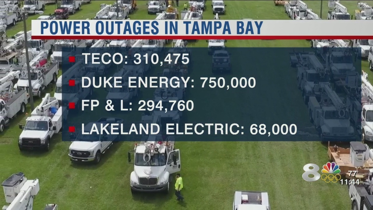 Tampa Bay Power Outages Still More Than 1 4 Million