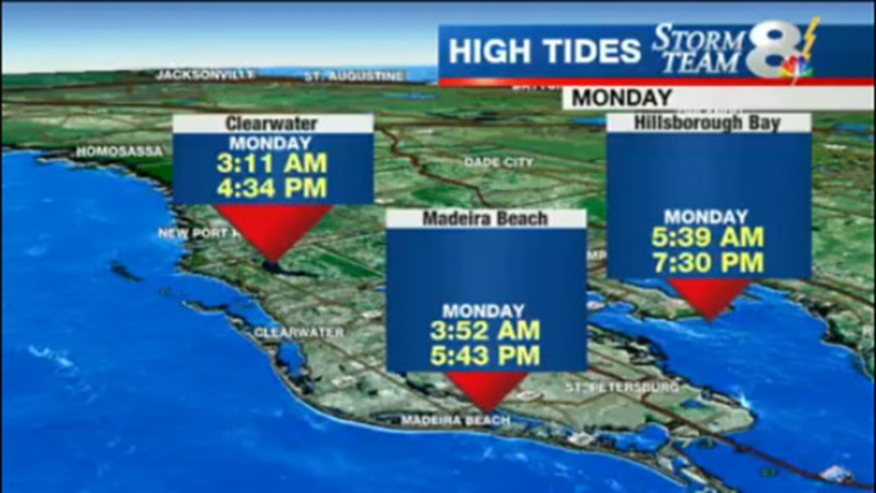 High Tide Times In Tampa Bay Area On Monday