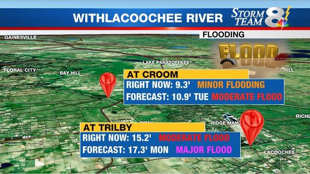 Voluntary Evacuation Order Issued For Residents Along Withlacoochee
