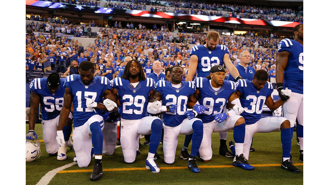Trump thinks NFL should create a rule that bans kneeling during anthem