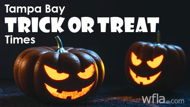 When do kids go trick or treating in Tampa Bay?
