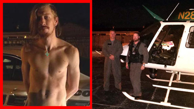 Pasco sheriff's helicopter pilot lands, detains shirtless laser pointer suspect