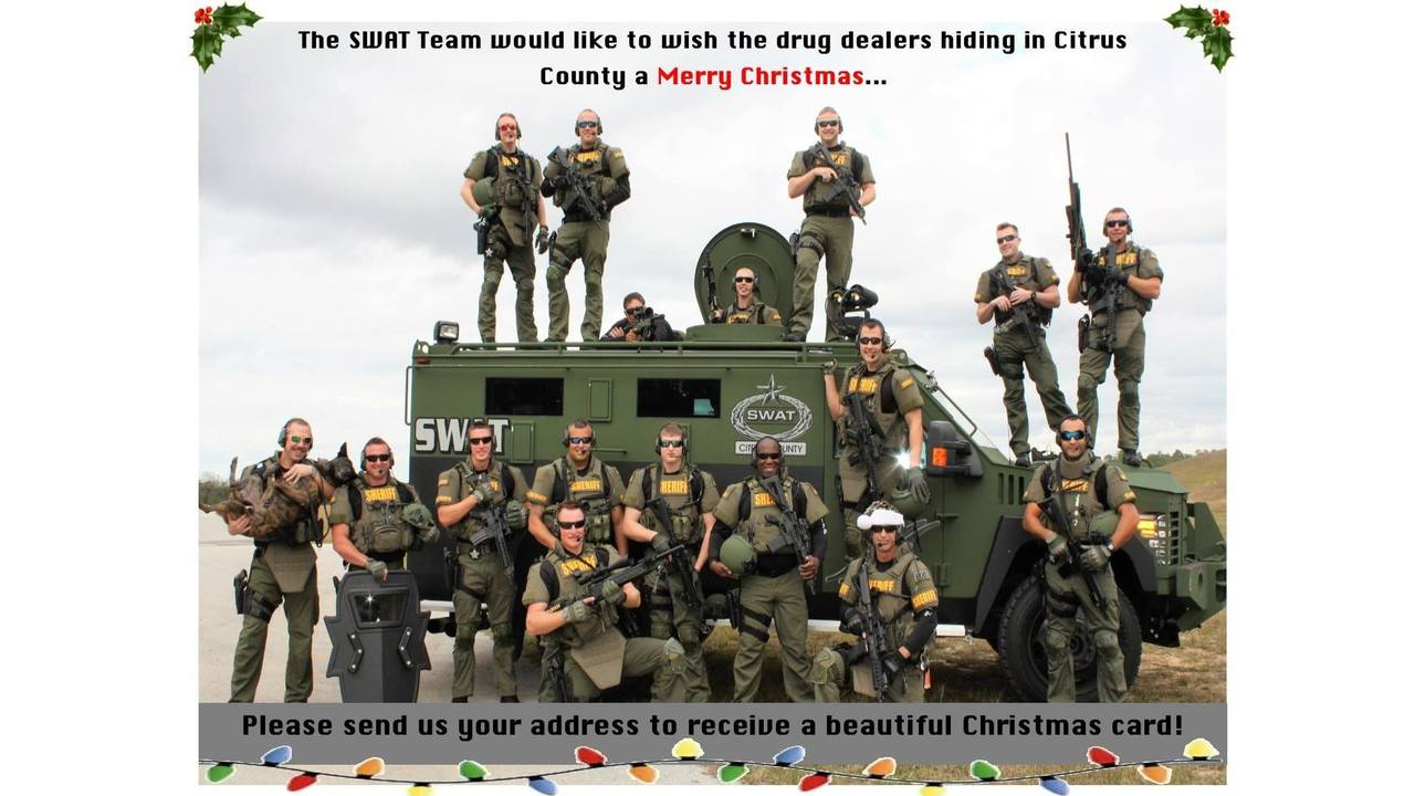 Citrus County SWAT team looking to \'send Christmas cards\' to drug ...