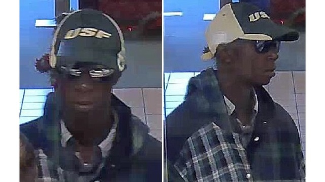 Suspected bank robber sought in Tampa