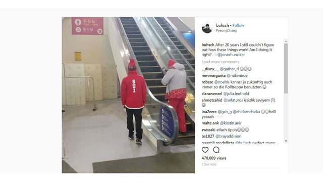 WATCH: Swiss Olympic skier Fabian Bosch becomes king of the internet with escalator stunt