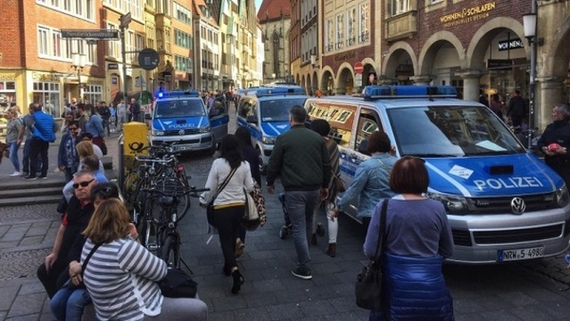 GERMANY - Three dead as van ploughs into crowd in Muenster