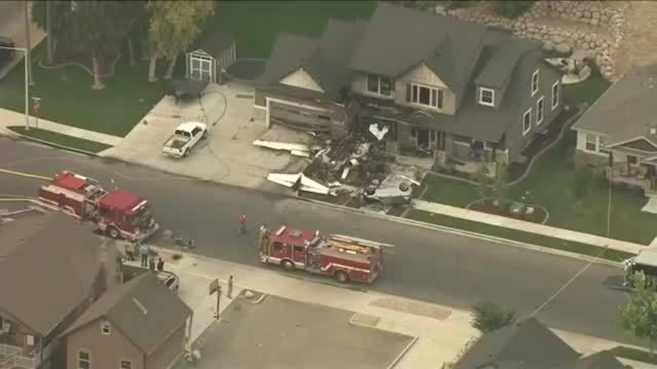 Plane Crashes Into House In Utah