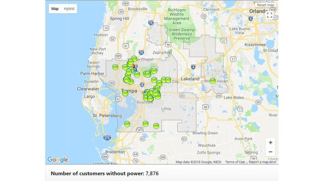 Thousands Lose Power As Storms Move Through Tampa Bay