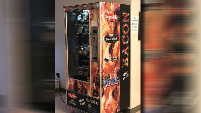 College gets bacon vending machine