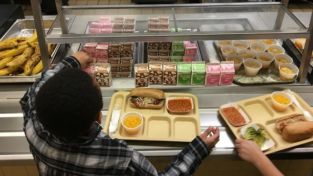 Students who owe lunch money to get cold sandwiches