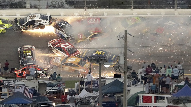 Big Wreck Daytona 500 2019
