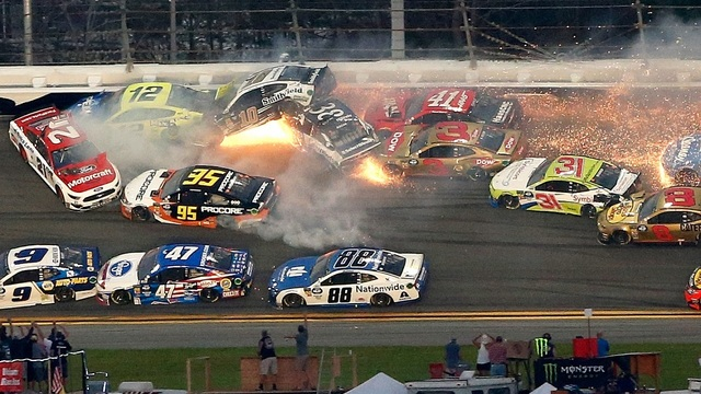 Big wreck Daytona 2