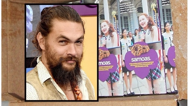 """Mothers are excited"": Girl Scout offers cookies with a photo of Jason Momoa"