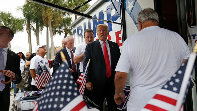 Former campaign staffer accuses Trump of kissing her without consent before Tampa rally