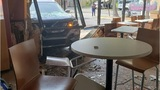 Customer saved himself by getting hot sauce before car crashed into table at Taco Bell