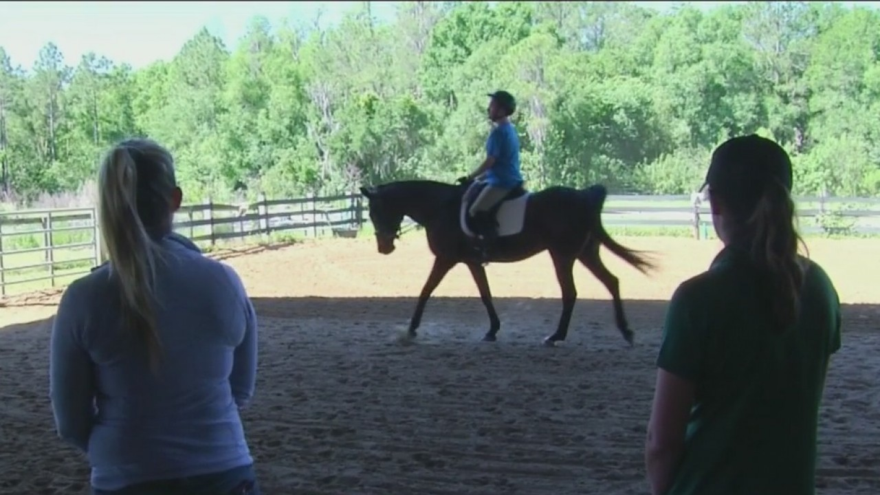 Tampa equestrian center helps man with autism win gold at World Special Olympics