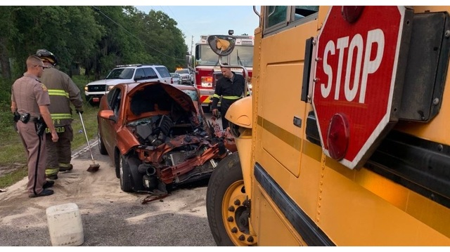 School bus involved in head-on crash in Pasco County; 5 injured