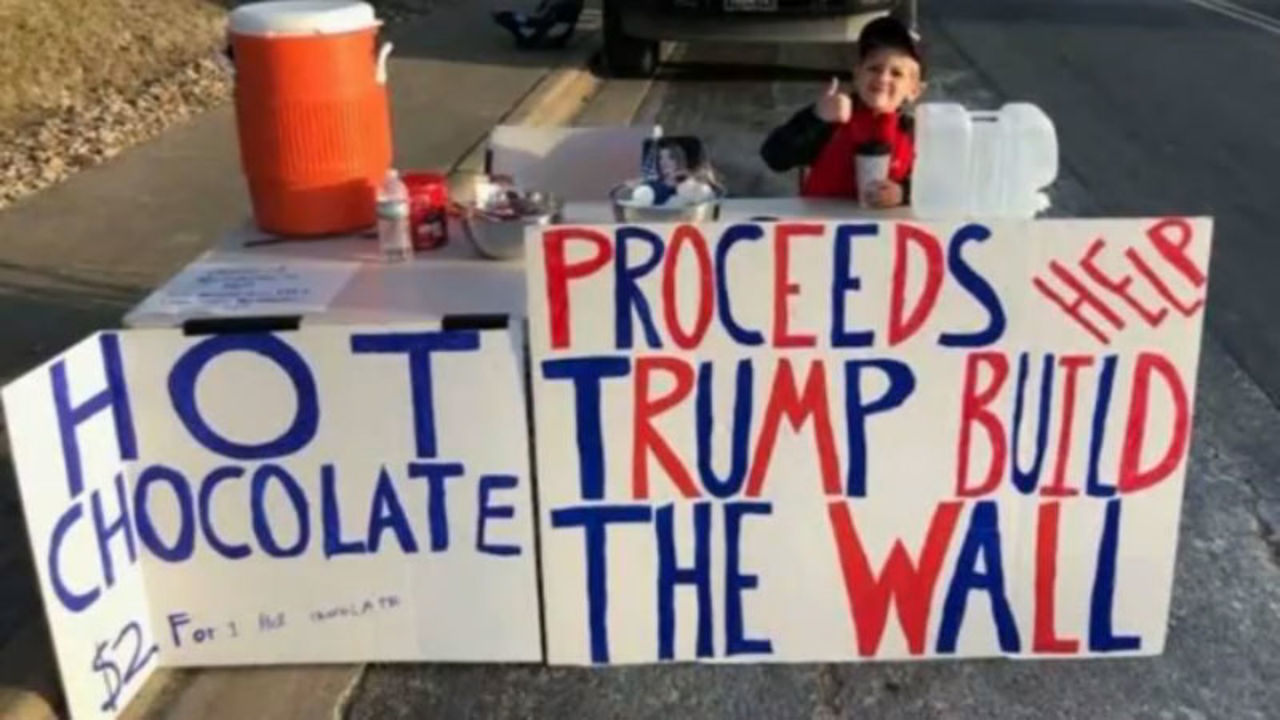 Image result for 7-year-old donates $22,000 to help fund section of border wall