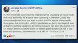 There's no serial killer in Manatee County, sheriff's office says